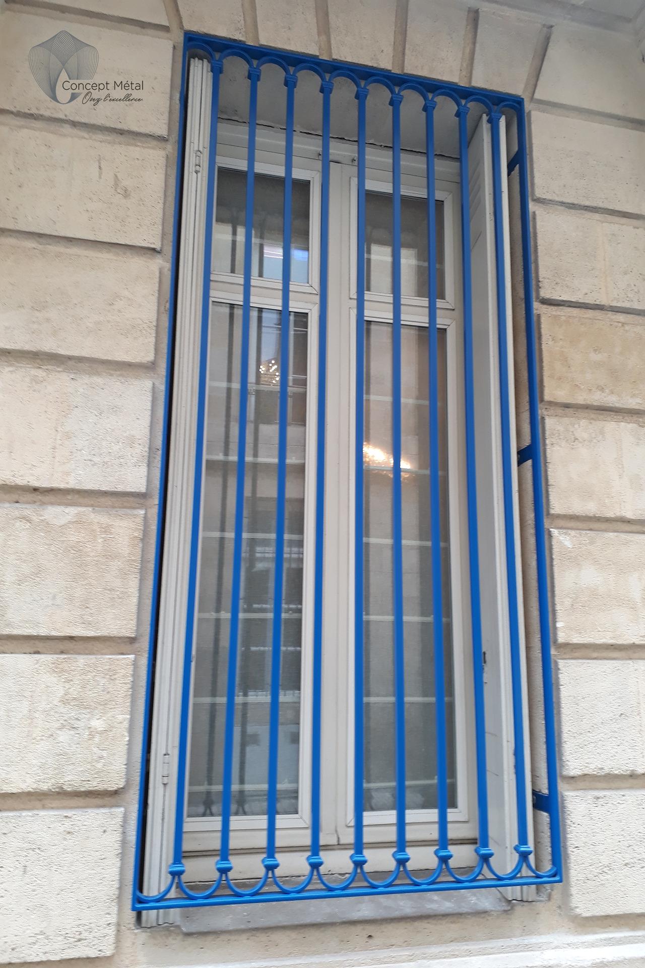 Grille Métal bleu - Concept Métal - Bordeaux - Bassin d'Arcachon