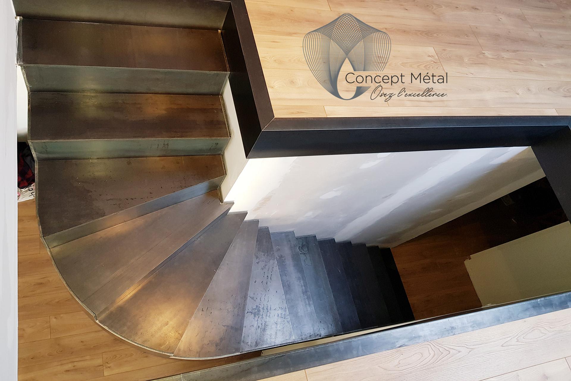 Escalier 1/4 Tournant - Concept Métal - Bordeaux - Bassin d'Arcachon