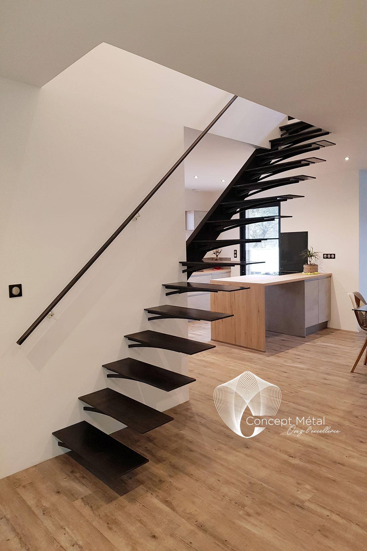 Escalier Droit métal - Concept Métal - Bordeaux - Bassin d'Arcachon