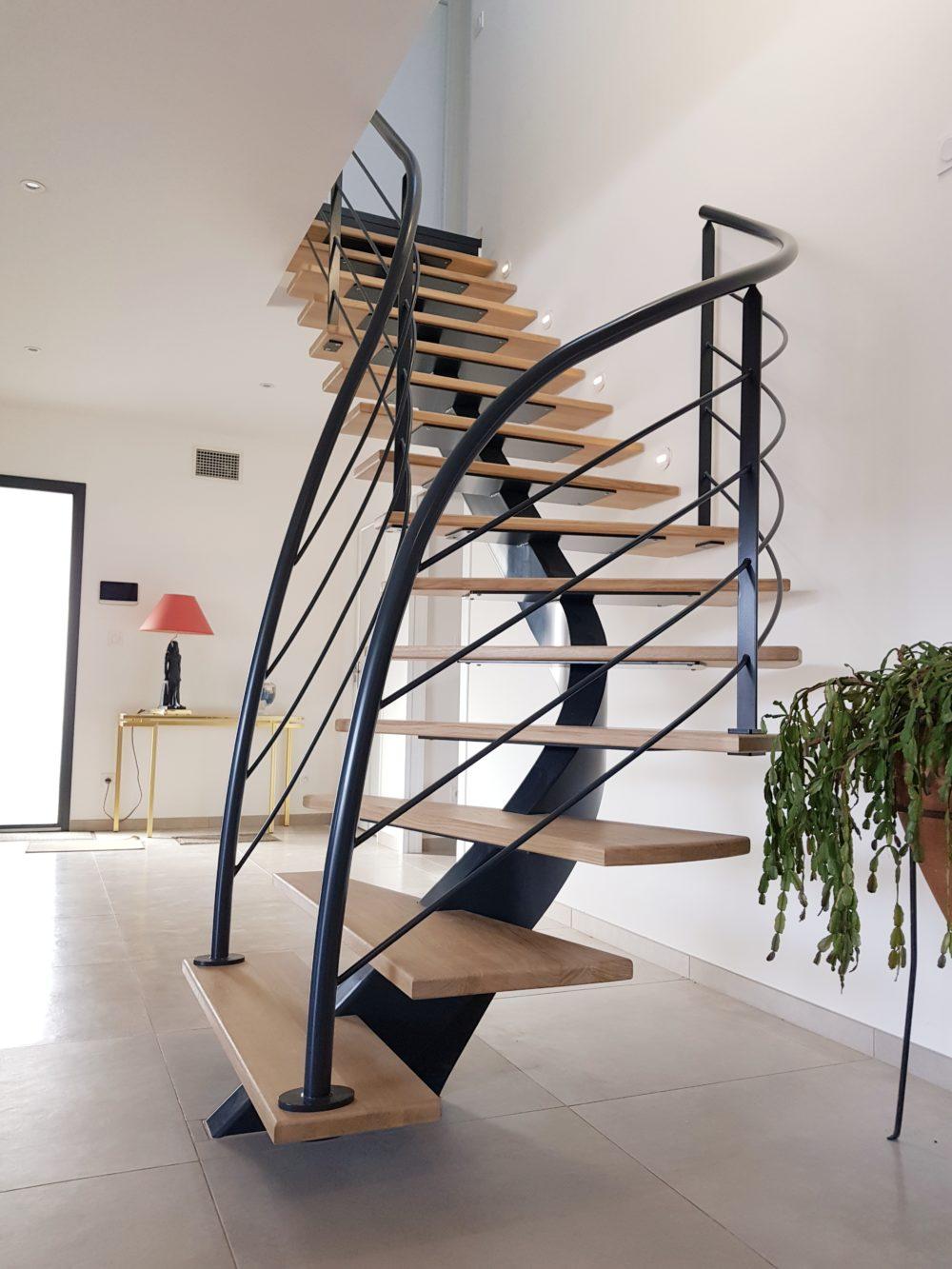 escalier metal sur mesure bassin arcachon