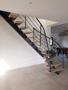 escalier quart tournant metal bassin arcachon bordeaux