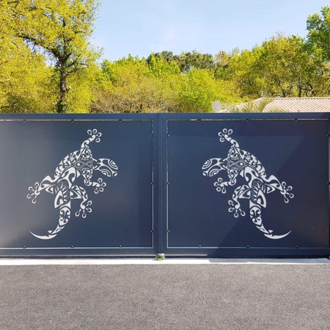 Portail metal double vantaux