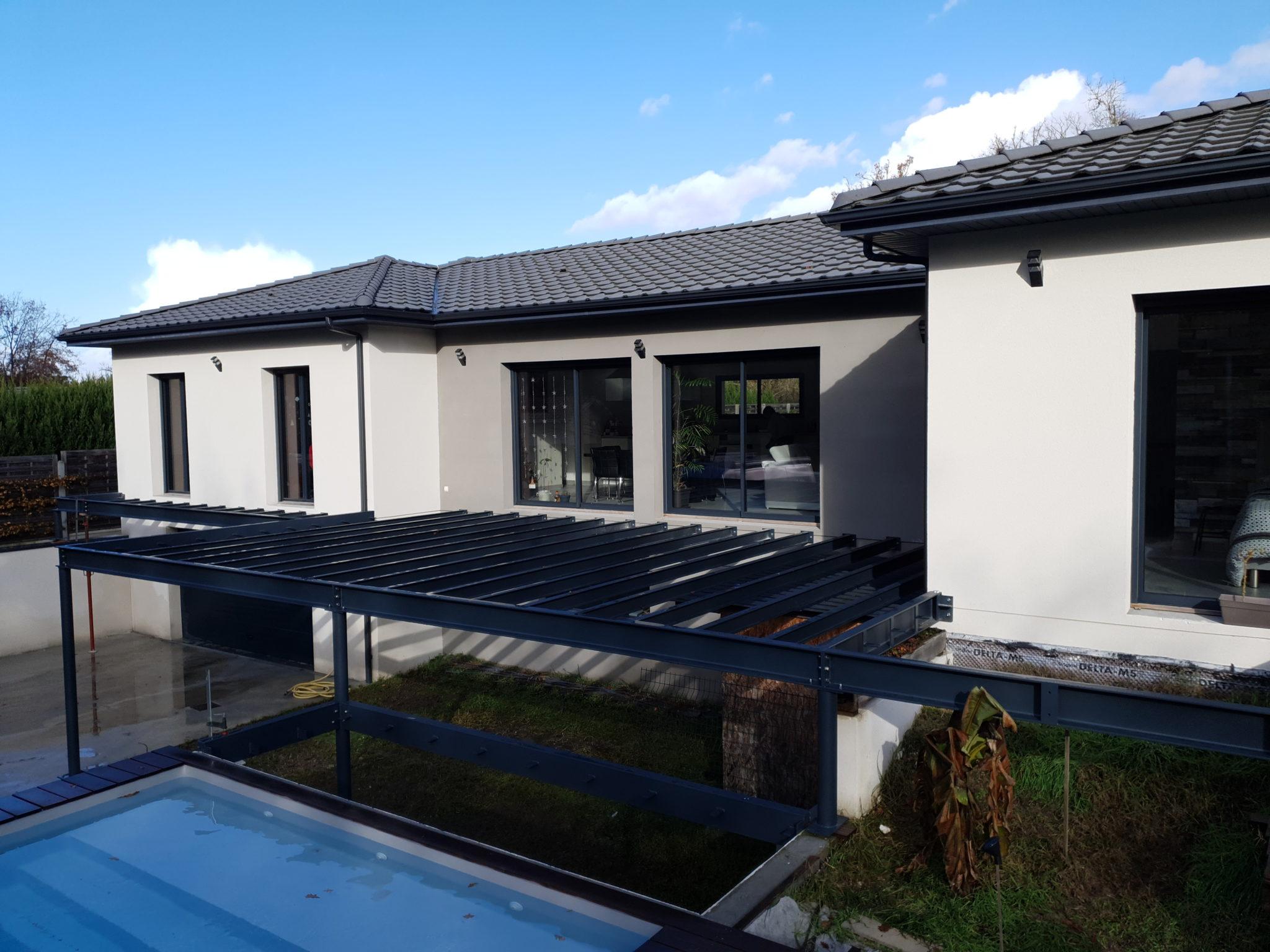 terrasse en structure métallique pour particulier