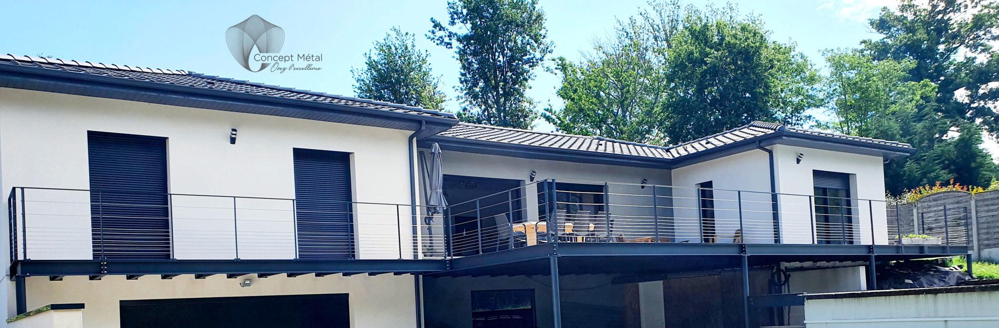 Pergola Terrasse - Concept Métal - Bordeaux - Bassin d'Arcachon